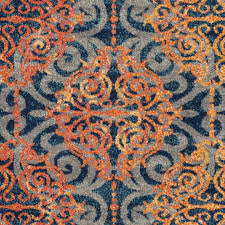 46 most skoo blue and orange area rugs rug home ideas turquoise