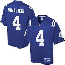 Men's Adam Color Team Colts Indianapolis Pro Jersey Vinatieri Line Nfl
