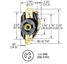 l5 20 wiring diagram l5 image wiring diagram hubbell hbl2310 l5 20r twist lock ac receptacle on l5 20 wiring diagram