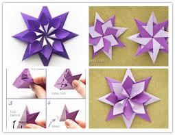 VIEW IN GALLERY folded Origami Star DIY F Wonderful DIY Gold Star Ornaments  From Drinking Straw