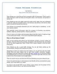 Press Release Promotion For Business