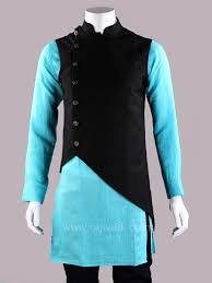 Mens Koti Design Get The New Stylish Look In This Layered Koti Cotton Silk