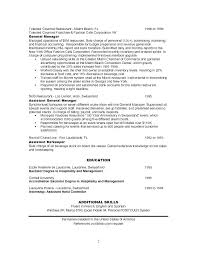 Assistant Manager Resume Objective Resume Bank