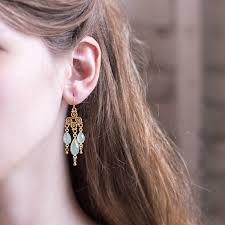 aqua chalcedony drop earrings bridal chandelier earrings ornate swirl earrings gold filigree earrings dangle handmade wedding jewelry