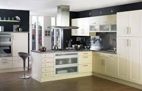 kitchen modern cabinets designs:  modern kitchen apartment sample with black counter cabinets modern design amazing counter cabinets
