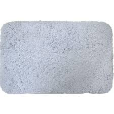 home dynamix superior blue 21 in x 34 in microfiber bath mat