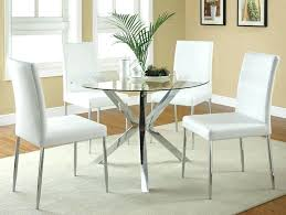round glass topped dining table 5 chrome metal finish round glass top dining table set glass