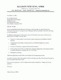 Executive Cover Letter Examples Hr Executive Cover Letter