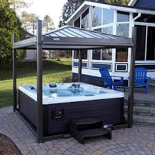 Hot Tub Covana III Gazebo and Cover - open. Available now at http:/