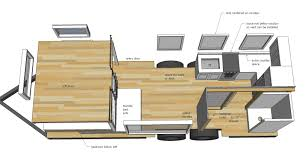 tiny houses floor plans. Free Tiny House Plans - Quartz Model With Bathroom Houses Floor