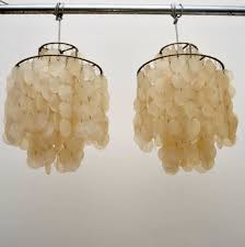 pair of swiss retro shell fun chandeliers by verner panton vintage 1960 s