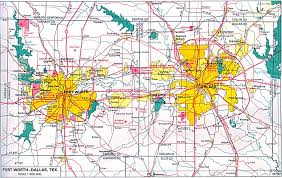 dallas fort worth map  roundtripticketme