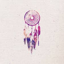 Girly Dream Catchers Girly Pink Purple Dream Catcher Watercolor Paint Art Print Skin 2