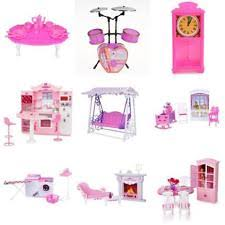 barbie doll house furniture. Dolls House Miniature Furniture For Barbie Kelly Musical Room Kitchen Accs Doll B