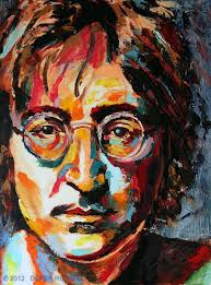 john lennon original fine art oil painting by artist rus