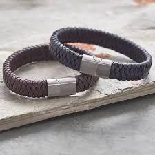 men s wide pu leather bracelet