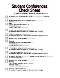 student conference form student led conferences pdf ideas for my classroom pinterest
