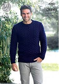 Mens Sweater Knitting Pattern Unique King Cole 48 Knitting Pattern Mens Sweater And Cardigan In King