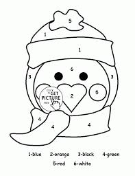 Coloring Pictures Of Penguins Color By Number Cute Penguin Page For