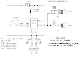 wiring diagrams r5 rd250 rd350 xs650 original equipped a separate regulator and rectifier