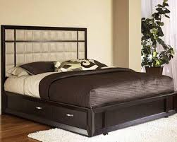 Queen Bed Frame with Drawers Iron