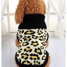 1319 Pes Svetry Oblečení Pro Psy Leopard Levhart Látka Kostým Pro Jaro Podzim Zima Dámské Běžné Denní