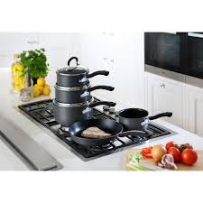 Non Stick Kitchen Appliances Tefal Pieces Pan Pot Set Frypan Frying Cookware Kitchen Cooking