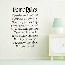 simple design house rules wall stickers for living room wall decor text home saying wallpaper wall on house rules wall art suppliers with aliexpress buy simple design house rules wall stickers for