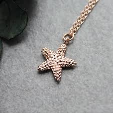 rose gold starfish necklace starfish pendant starfish charm necklace dainty starfish necklace beach necklace nautical necklace
