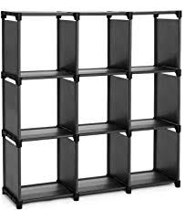 shelves for office. SONGMICS 9 Cube DIY Storage Shelves Open Bookshelf Closet Organizer Rack Cabinet Black ULSN45BK For Office