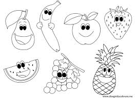 Fruit Coloring Pages Fruit Coloring Page Coloring Book For Kids