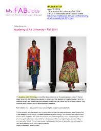 Ms University Fashion Designing 06 13 2014 Ms Fabulous By Academy Of Art University School