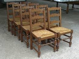 large set of antique chairs set of eight 8 french provincial oak ladder back dining