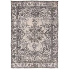 21st century contemporary gray ivory overdyed stani rug for