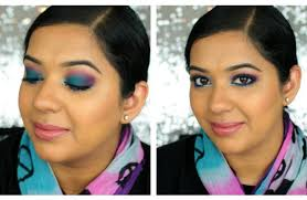 colorful party makeup tutorial blue purple beautylashes19