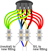looped in lighting wiring the ceiling rose light wiring diagram for round balers fig 4a, lighting with connected extractor fan wiring