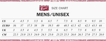 Onitsuka Tiger Size Chart Uk 27 Surprising Onitsuka Tiger Shoe Size Chart