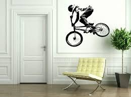 bmx bike wall sticker