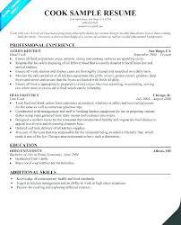 Cook Resume Sample Cook Resume Skills Examples Noxdefense Com