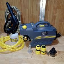 máy xịt rửa xe mini gia đình FORMAN lõi dây đồng có chĩnh áp - công suất  2400w tặng bình tạo bọt tuyết - Máy xịt rửa