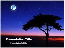 Night Sky Powerpoint Templates Powerpoint Presentation On