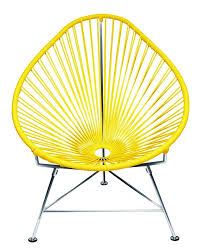yellow patio furniture. Amazon.com : Innit Designs Acapulco Chair, Yellow Weave On Chrome Frame Patio Lounge Chairs Garden \u0026 Outdoor Furniture