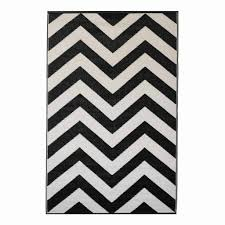recycled black  white chevron rug laguna  bersama