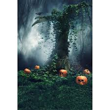 <b>Mysterious Forest</b> Pumpkins Photography <b>Backdrop Halloween</b> ...
