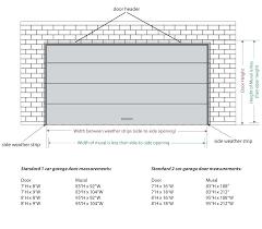 single garage roller door width size standard double measure mural on l single garage door