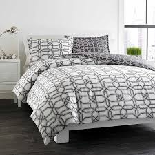scene labyrinth grey reversible cotton 3 piece duvet cover set in pattern interior 2