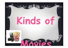 types of movies 5 free esl types of movies powerpoint presentations exercises