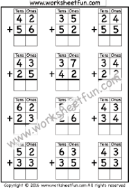 Addition – No Regrouping / FREE Printable Worksheets – Worksheetfun2 Digit Addition – No Regrouping – 3 Worksheets