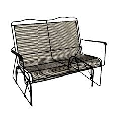 black wrought iron patio furniture. davenport black wrought iron mesh patio loveseat glider furniture