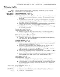 Resume Objective For Customer Service Representative Skill Resume